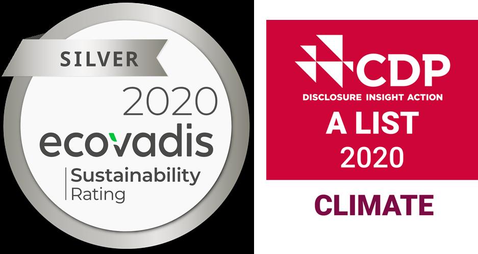 ecovadis amd cdp sustainability badges